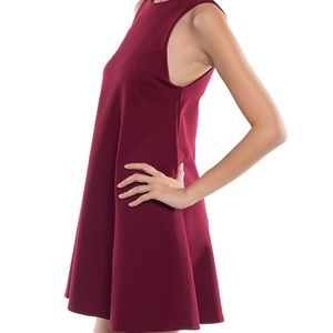 Coveted Clothing Keyhole-Back Trapeze Dress